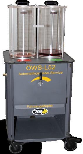 Plnička / proplachovačka automatických převodovek BG